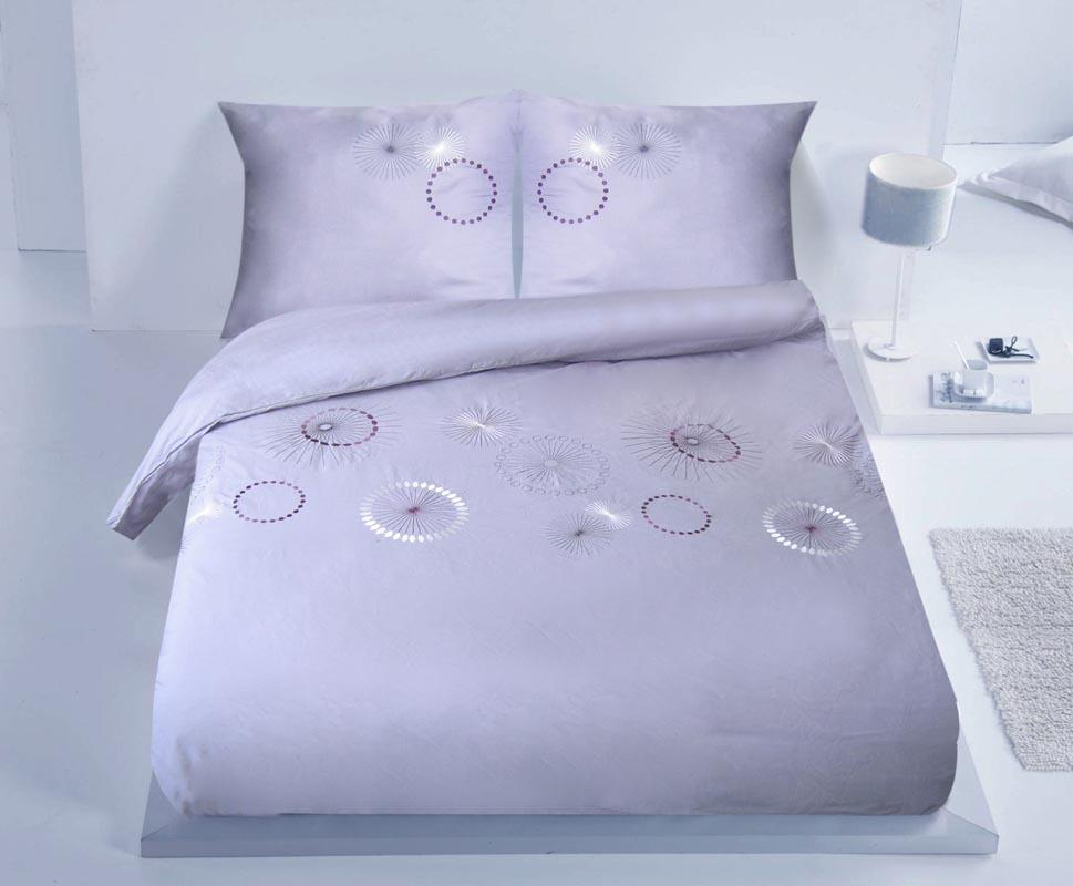 parure de lit 260 x 240 coton gris sun miliboo. Black Bedroom Furniture Sets. Home Design Ideas