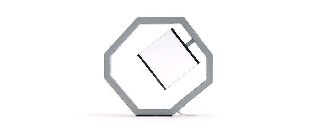 Petite lampe à poser Design EQUALIZER Argent