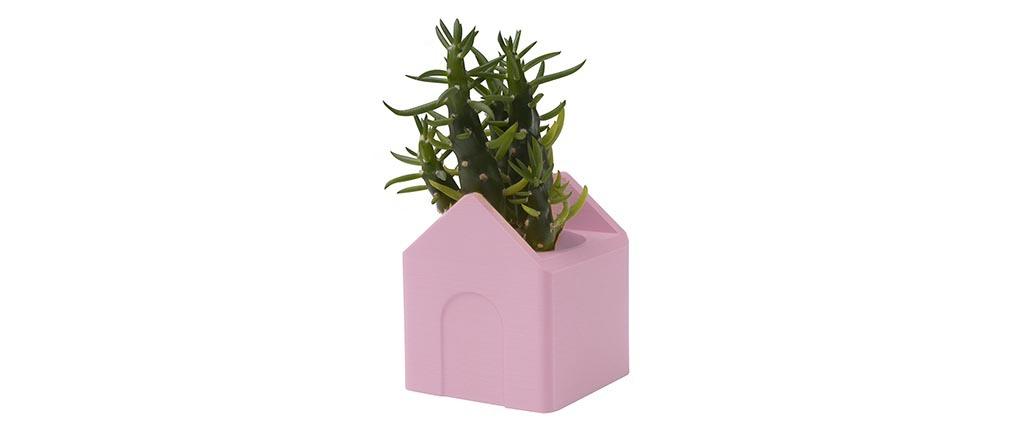 Petite maison rose d co en impression 3d petit mod le for Deco maison a petit prix