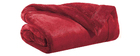 Plaid en polyester rouge 150 x 200 cm FERO