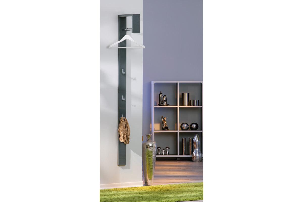 porte manteau mural design laqu gris ombrello miliboo. Black Bedroom Furniture Sets. Home Design Ideas