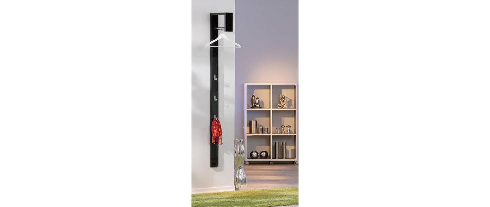 porte manteau mural design laqu noir ombrello miliboo. Black Bedroom Furniture Sets. Home Design Ideas