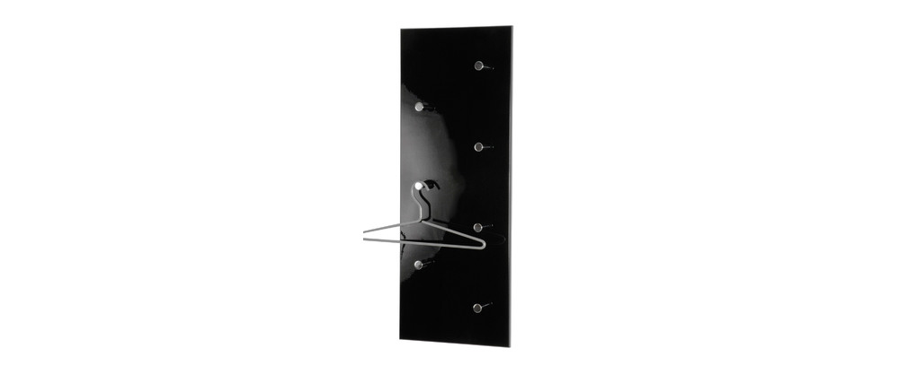 porte manteau mural design noir wall miliboo. Black Bedroom Furniture Sets. Home Design Ideas