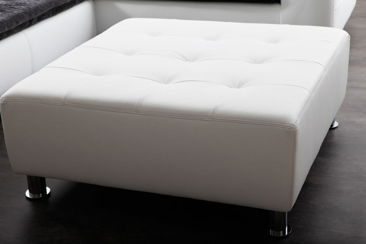 pouf blanc. Black Bedroom Furniture Sets. Home Design Ideas