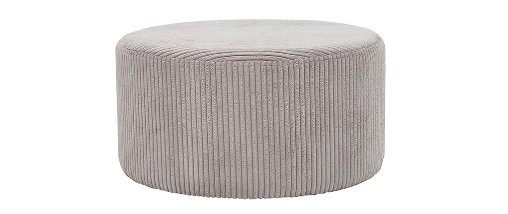 Pouf en velours côtelé gris D60 cm DUROY