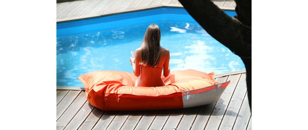Pouf exterieur flottant orange BIG MILIBAG