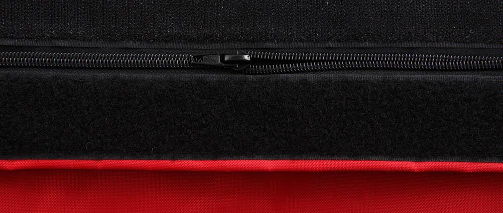 Pouf géant design polyester bicolore noir et rouge BIG MILIBAG