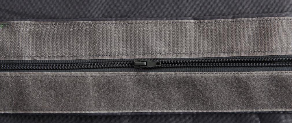 Pouf géant design polyester gris BIG MILIBAG