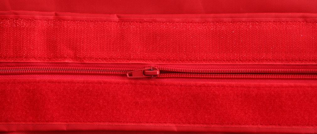 Pouf géant design polyester rouge BIG MILIBAG