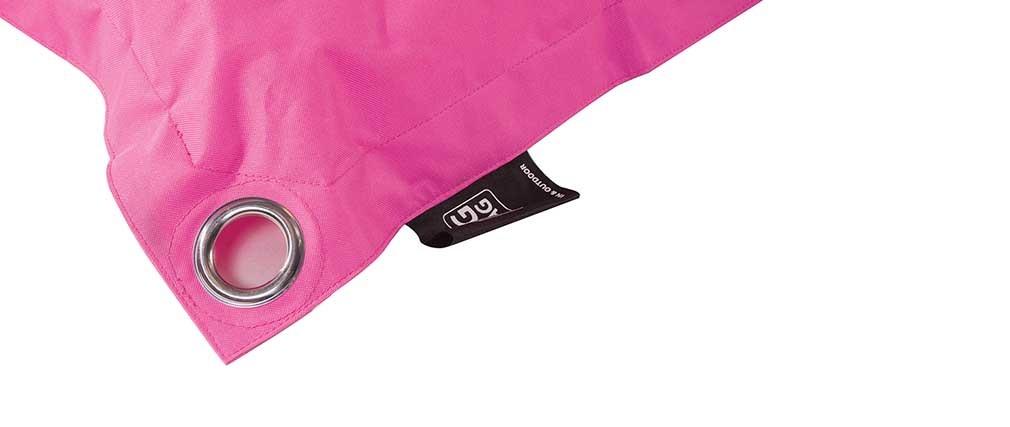 Pouf int rieur ext rieur 120 x 120 polyester fushia design for Fushia exterieur