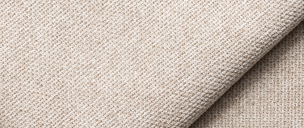 Pouf module de canapé en tissu beige PLURIEL
