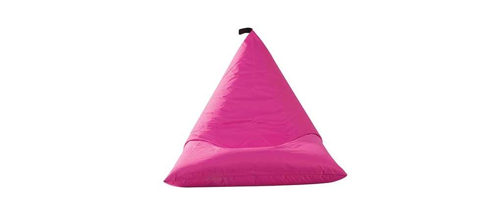 Pouf poire int rieur ext rieur polyester fuschia design for Fushia exterieur