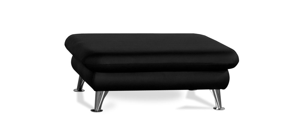 pouf repose pied design noir alabama miliboo. Black Bedroom Furniture Sets. Home Design Ideas