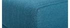 Pouf / repose pieds tissu bleu canard ULLA