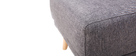 Pouf / repose pieds tissu gris foncé ULLA