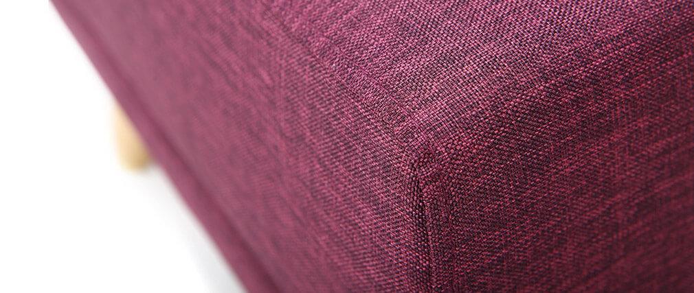 Pouf / repose pieds tissu prune ULLA