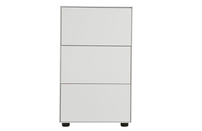 Rangement de bureau blanc mat 45x40 3 tiroirs mark miliboo