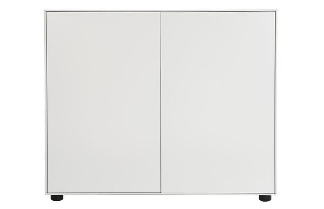 Rangement de bureau blanc mat 90x40 mark miliboo