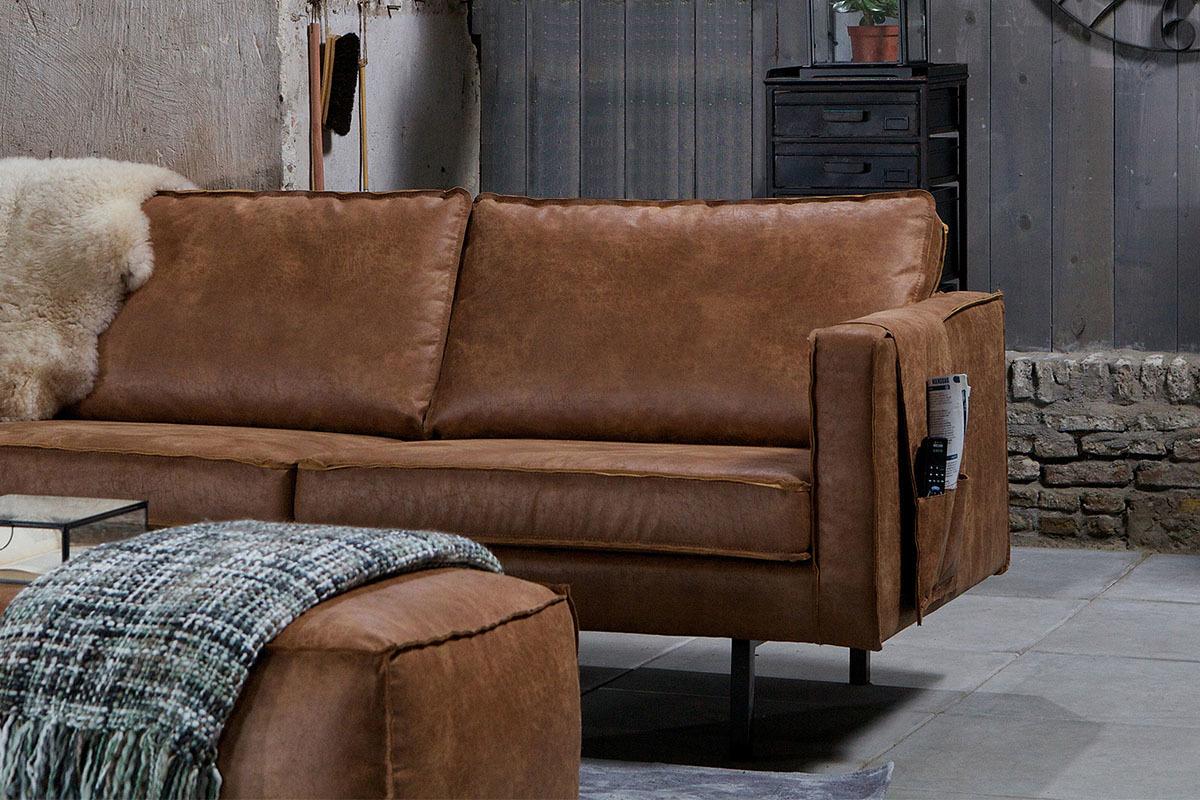 repose accoudoir pour canap cuir vintage aspen cuir reconstitu miliboo. Black Bedroom Furniture Sets. Home Design Ideas
