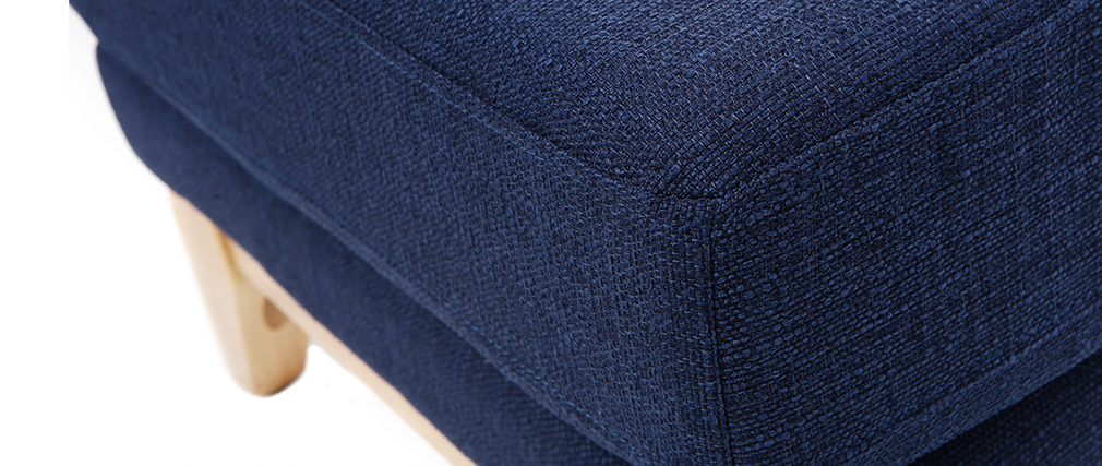 Repose-pieds scandinave déhoussable bleu foncé OSLO