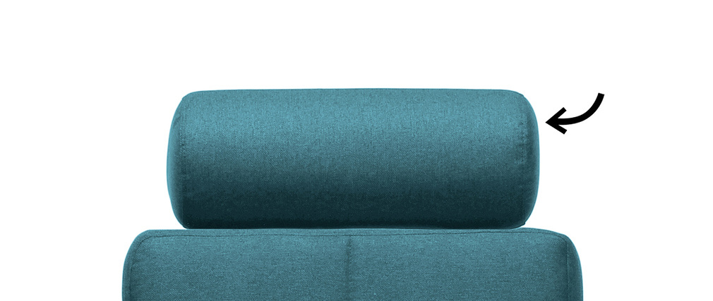 Repose-tête amovible en tissu bleu canard ELFE