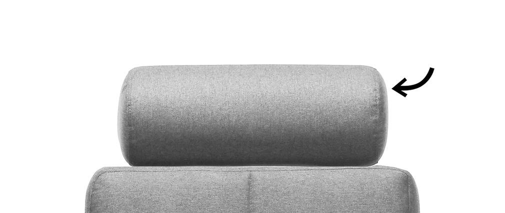 Repose-tête amovible en tissu gris clair ELFE