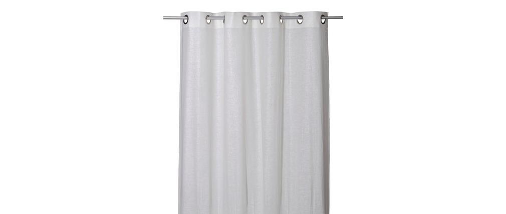 rideau 140 x 260 lin et coton blanc strass miliboo. Black Bedroom Furniture Sets. Home Design Ideas