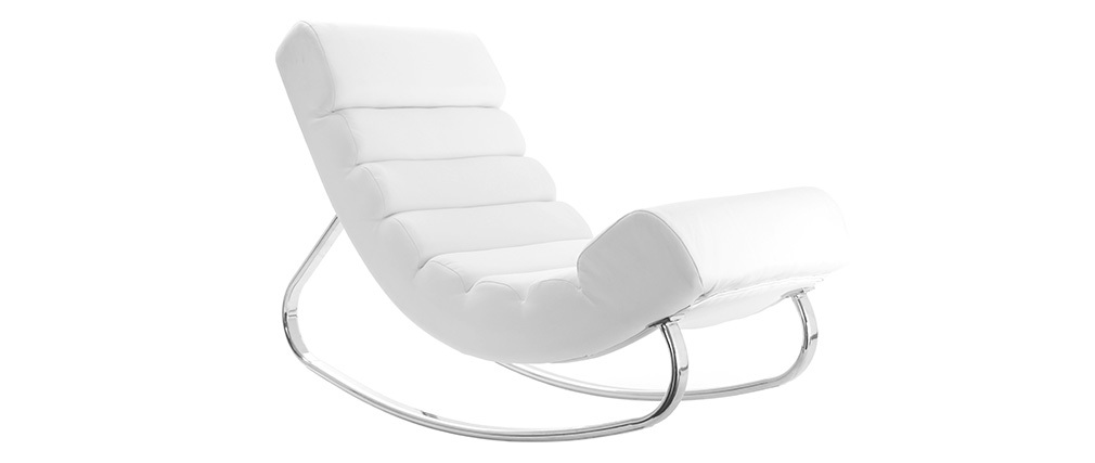 Design Chair Blanc Rocking Taylor Miliboo 3AcLjR54qS