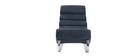 Rocking chair design effet velours bleu TAYLOR