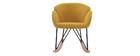 Rocking chair design tissu effet velours jaune moutarde RHAPSODY - Miliboo & Stéphane Plaza