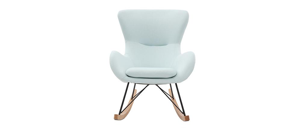 Rocking chair design tissu menthe à l