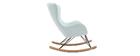 Rocking chair design tissu menthe à l'eau ESKUA
