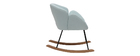 Rocking chair design tissu menthe à l'eau RHAPSODY - Miliboo & Stéphane Plaza