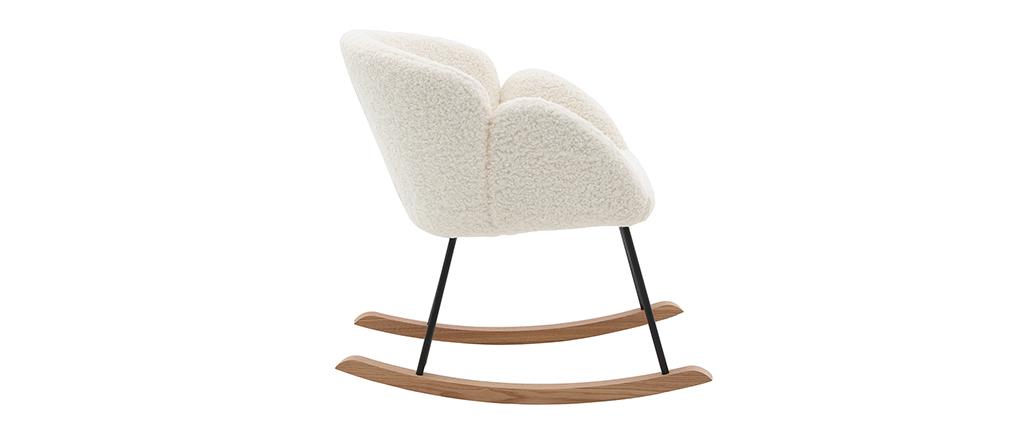 Rocking chair design tissu mouton blanc RHAPSODY - Miliboo & Stéphane Plaza