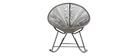 Rocking chair en fils de résine gris BELLAVISTA
