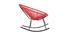 Rocking chair en fils de résine rouge BELLAVISTA