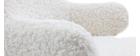Rocking chair enfant tissu effet laine bouclée SHAUN