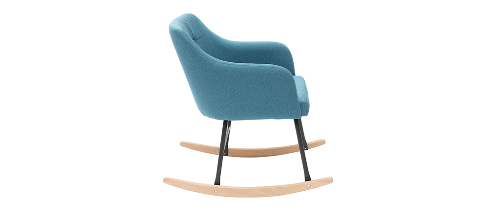 Rocking chair scandinave bleu canard BALTIK - Miliboo & Stéphane Plaza
