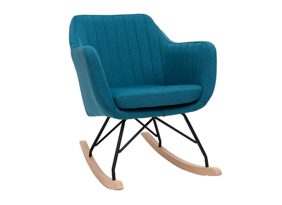 Canard Aleyna Bleu Scandinave Rocking Tissu Chair En doQxWrCBe