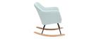Rocking chair scandinave en tissu menthe à l'eau ALEYNA