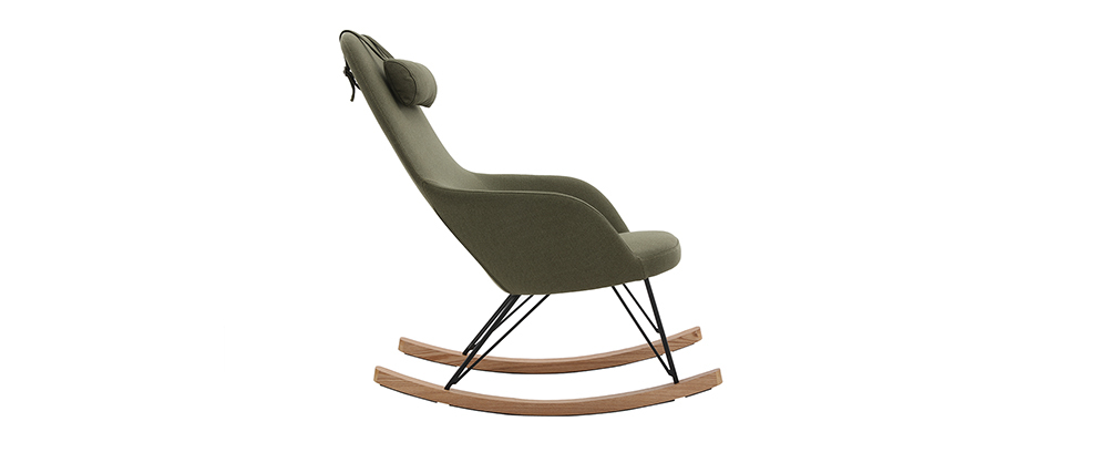 Rocking chair scandinave kaki JHENE - Miliboo & Stéphane Plaza