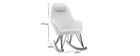 Rocking chair scandinave tissu blanc effet laine bouclée JHENE - Miliboo & Stéphane Plaza