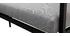 Salon de jardin d'angle en métal noir et tissu gris SAIGON