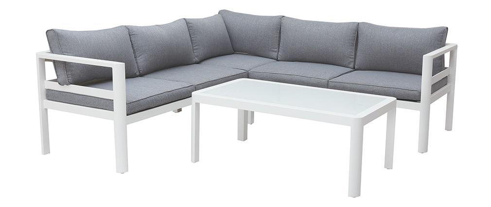 Salon de jardin design gris foncé avec table basse TONIGHT - Miliboo