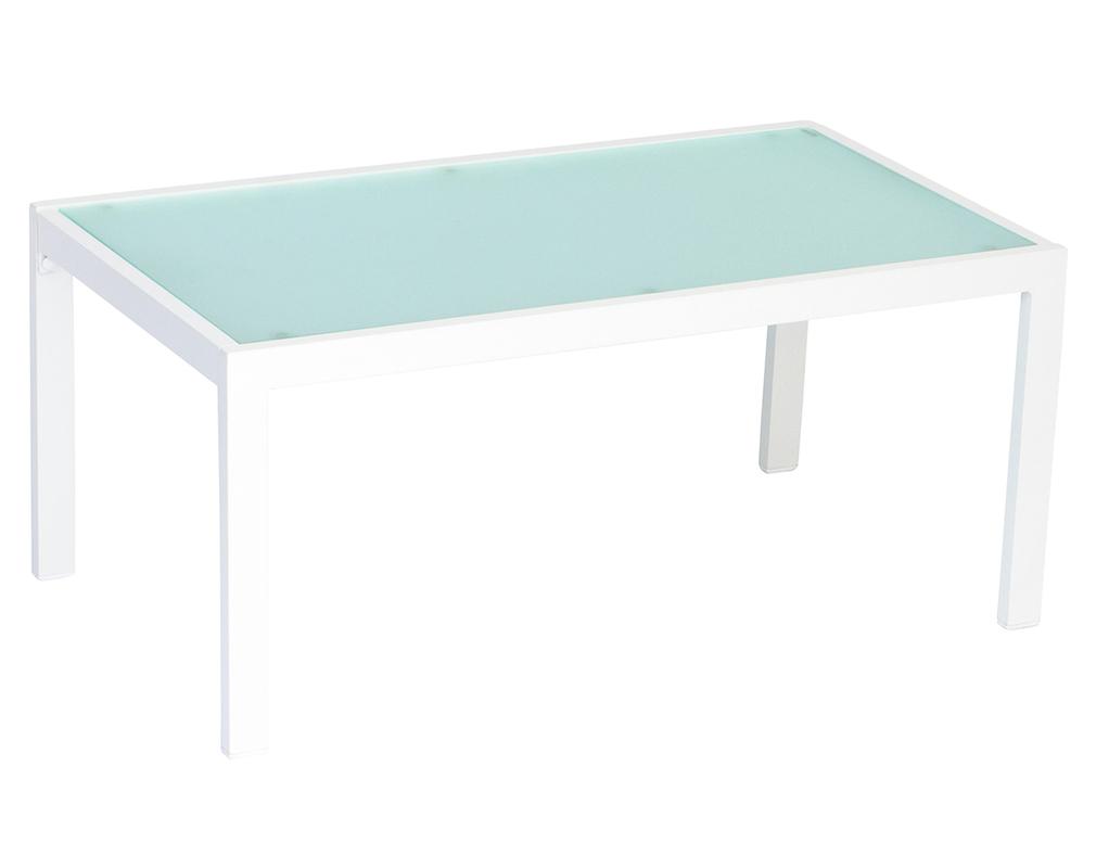 Salon De Jardin En Métal Blanc Avec Table Banc Et 2