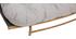 Salon de jardin en tissu gris et métal avec table basse ANDREA