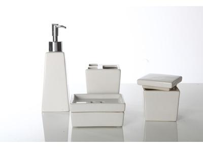 Accessoires salle de bain armoires et rangements bois - Accessoires salle de bain design ...