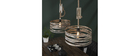 Suspension 2 lampes avec corde en zinc vieilli ROPE