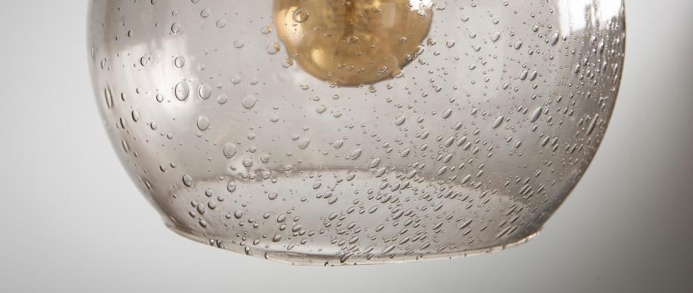 Suspension boule design verre fumé SPHERE