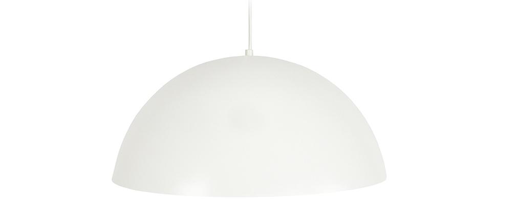 Suspension demi-sphère design blanc POG